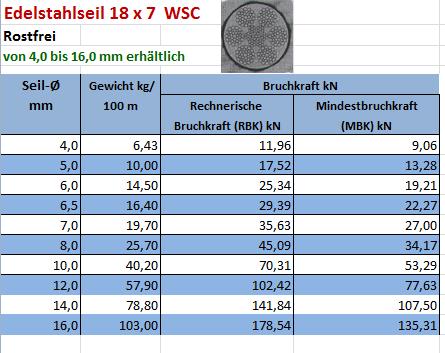Drahtseil mit Schlaufe Öse Edelstahl V2A 8mm M 16 Gewinde